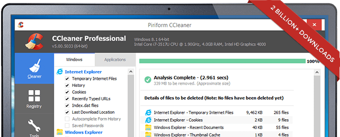 ccleaner free download svenska piriform