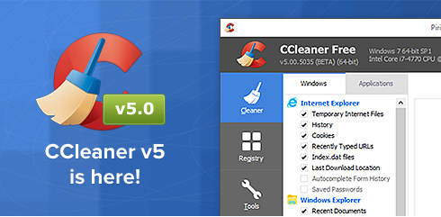Piriform - CCleaner v5.0 is now available in Beta!