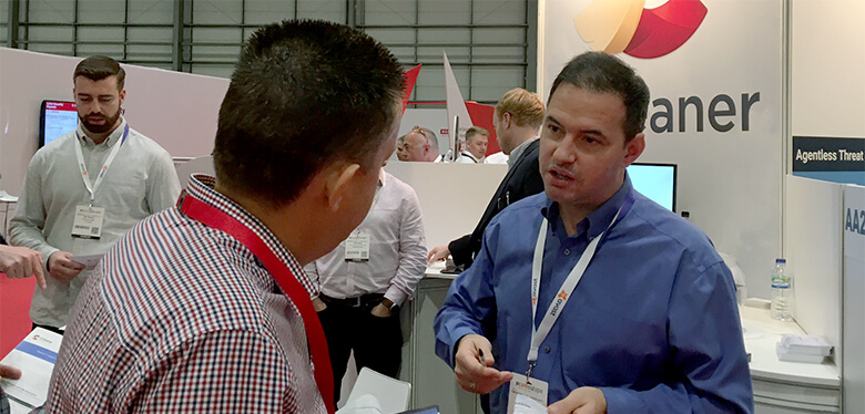 Talking about the benefits of CCleaner at IP Expo