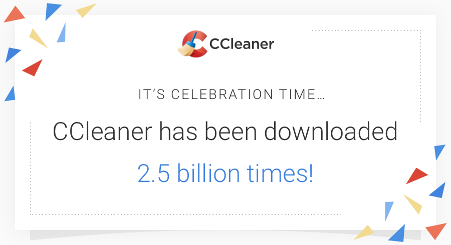 CCleaner hits 2.5 billion downloads!