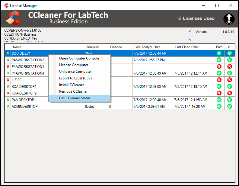 CCleaner For LabTech