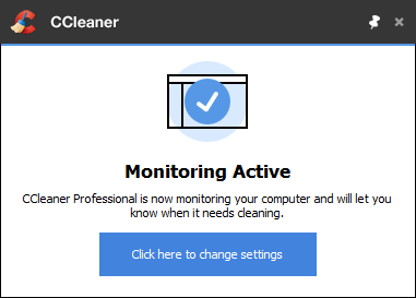 Set CCleaner Monitoring Settings
