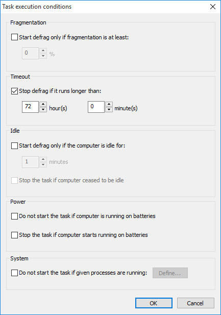 Advanced Scheduler Settings