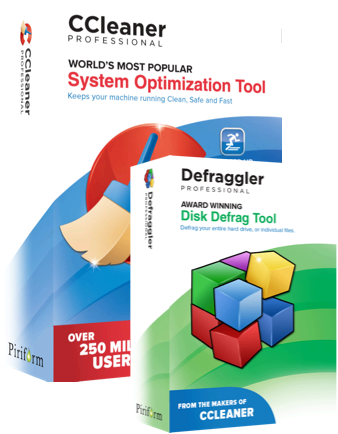 CCleaner and Defraggler Professional Editions product images